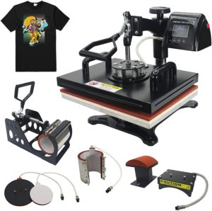 "RoyalPress 12"" x 15"" Heat Press 5 in 1 Color LED Sublimation Heat Transfer"