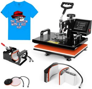 "TUSY 5 in 1 Swing Away Heat Press Machine 12"" x 15"""