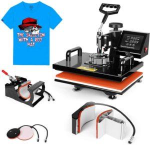 "TUSY 5 in 1 Swing Away Heat Press Machine 12"" x 15"""