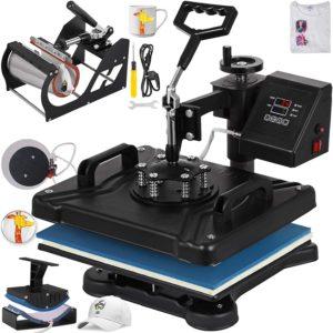 "VEVOR Heat Press 12""x15"" Heat Press Machine 5 in 1"