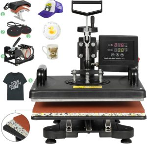 ZENY Upgrated Proffesional Digital T-shirt Heat Press Machine,12 x 15 Inch, 5 in 1 Swing Away Multifunctional
