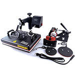 "PlanetFlame Factory CE 12""x15"" Combo 5 in 1 Heat Press Machine"