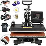 "ZENY Upgrated Proffesional Digital 5 in 1  Swing Away T-shirt Heat Press Machine 12"" x 15"""
