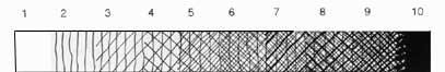 10 степеней штриховки